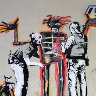 Banksy artworks appear on Barbican walls ahead of Jean-Michel Basquiat exhibition