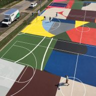 "William LaChance spruces up St Louis basketball courts with ""tapestry of colour"""