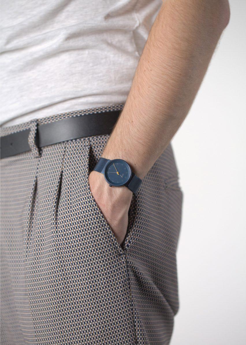 The BN0031 watch by Braun x Dezeen