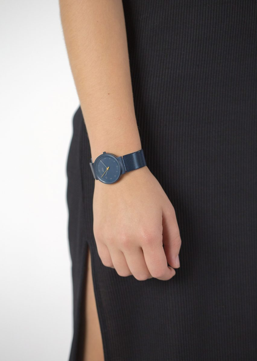 The BN0031 watch by Braun x Dezeen