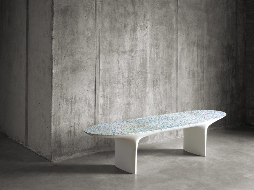 The New Furniture Collection, Called Flotsam, Also Includes A Bench With An  Ocean Plastic Surface