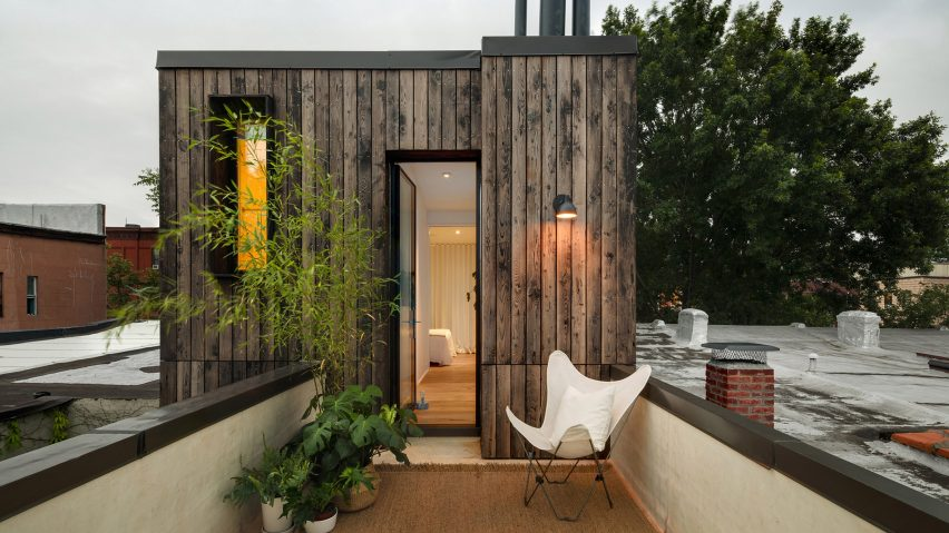 Office of Architecture includes rooftop bedroom suite in Brooklyn row house overhaul