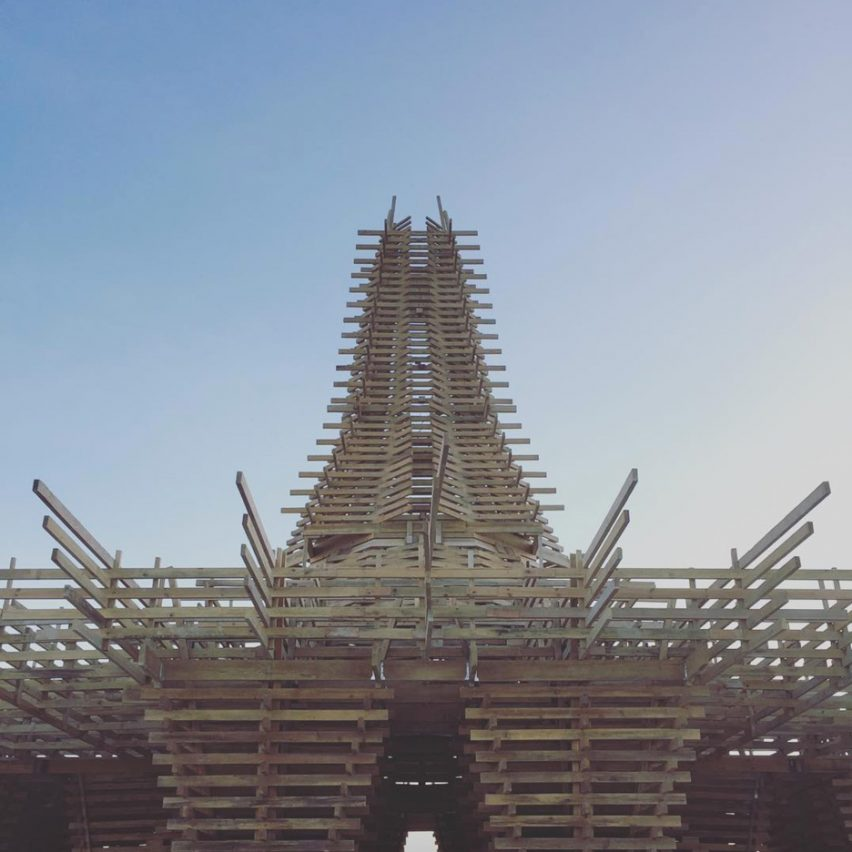 Burning Man temple 2017 captured by Alexander Josephson