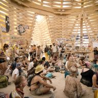 The Burning Man Temple by Marisha Farnsworth