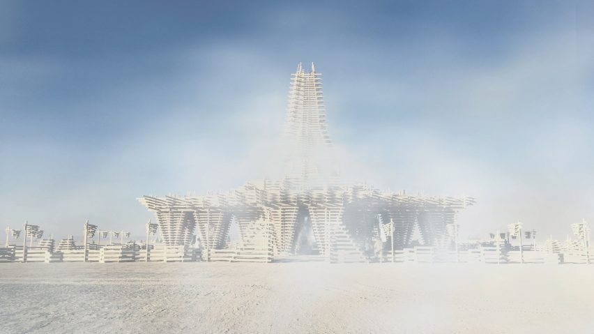 The Burning Man Temple by Marisha Farnsworth