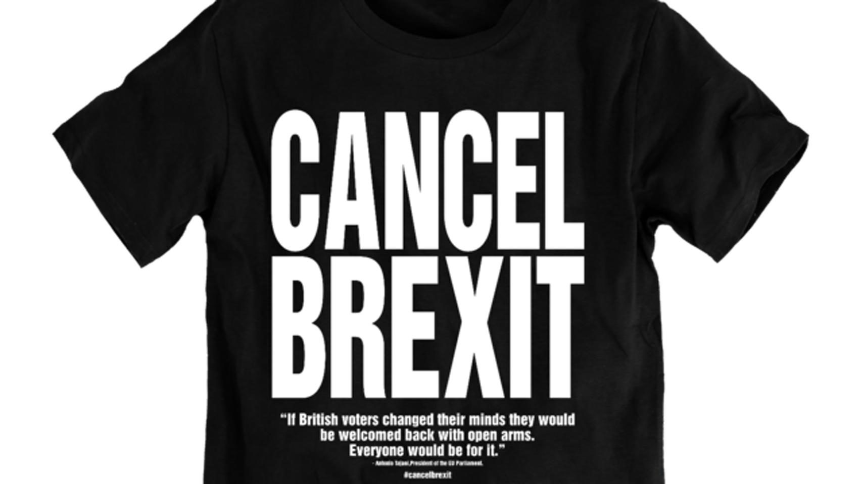 Design t shirt europe - Katharine Hamnett Designs New T Shirts Urging The Uk To Cancel Brexit