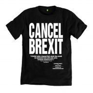 "Katharine Hamnett designs T-shirts urging the UK to ""Cancel Brexit"""