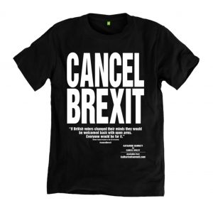 74e0a2444d Katharine Hamnett designs new T-shirts urging the UK to