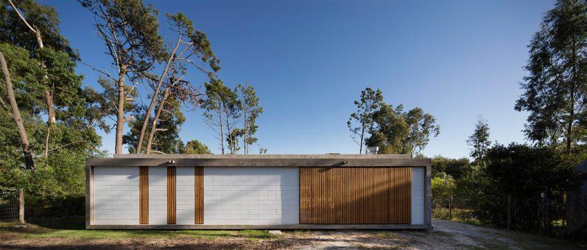 oak wood timber clad houses