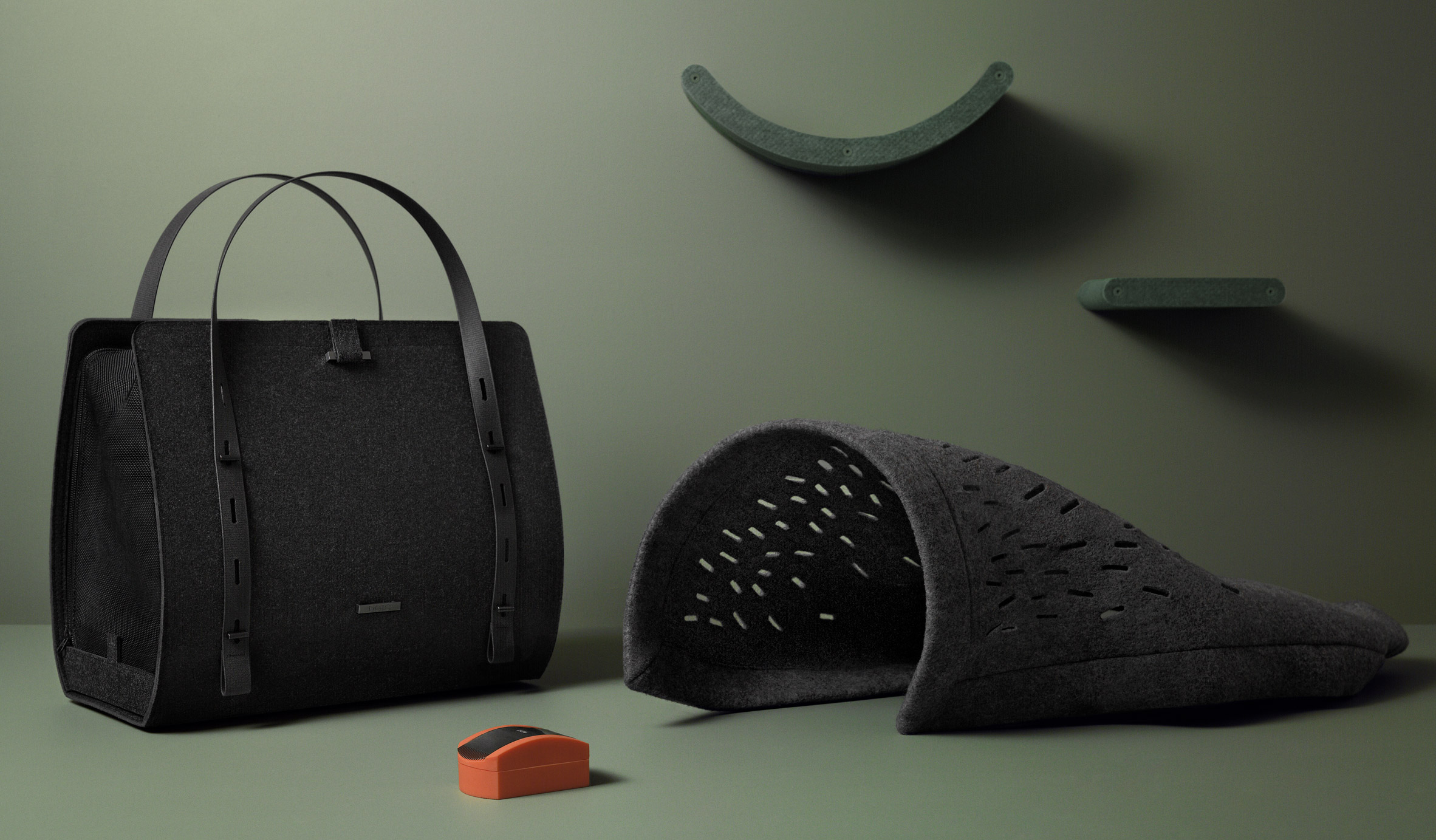 Dote uses recycled materials to create range of minimal accessories for cats