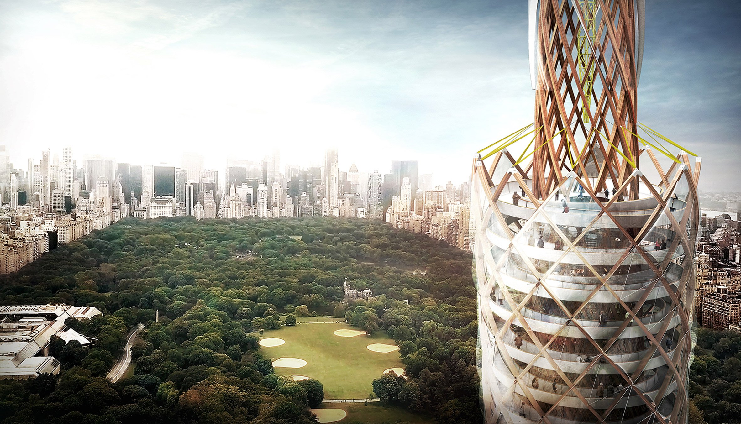 DFA proposes tallest timber observation tower to clean Central Park reservoir