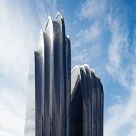 New images capture MAD's rock-shaped Chaoyang Park Plaza