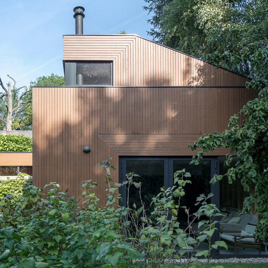 An ancient monastery wall slices through this Utrecht house extension