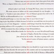 Graphic designer Emma King rewrites George Orwell's 1984 using Donald Trump tweets.