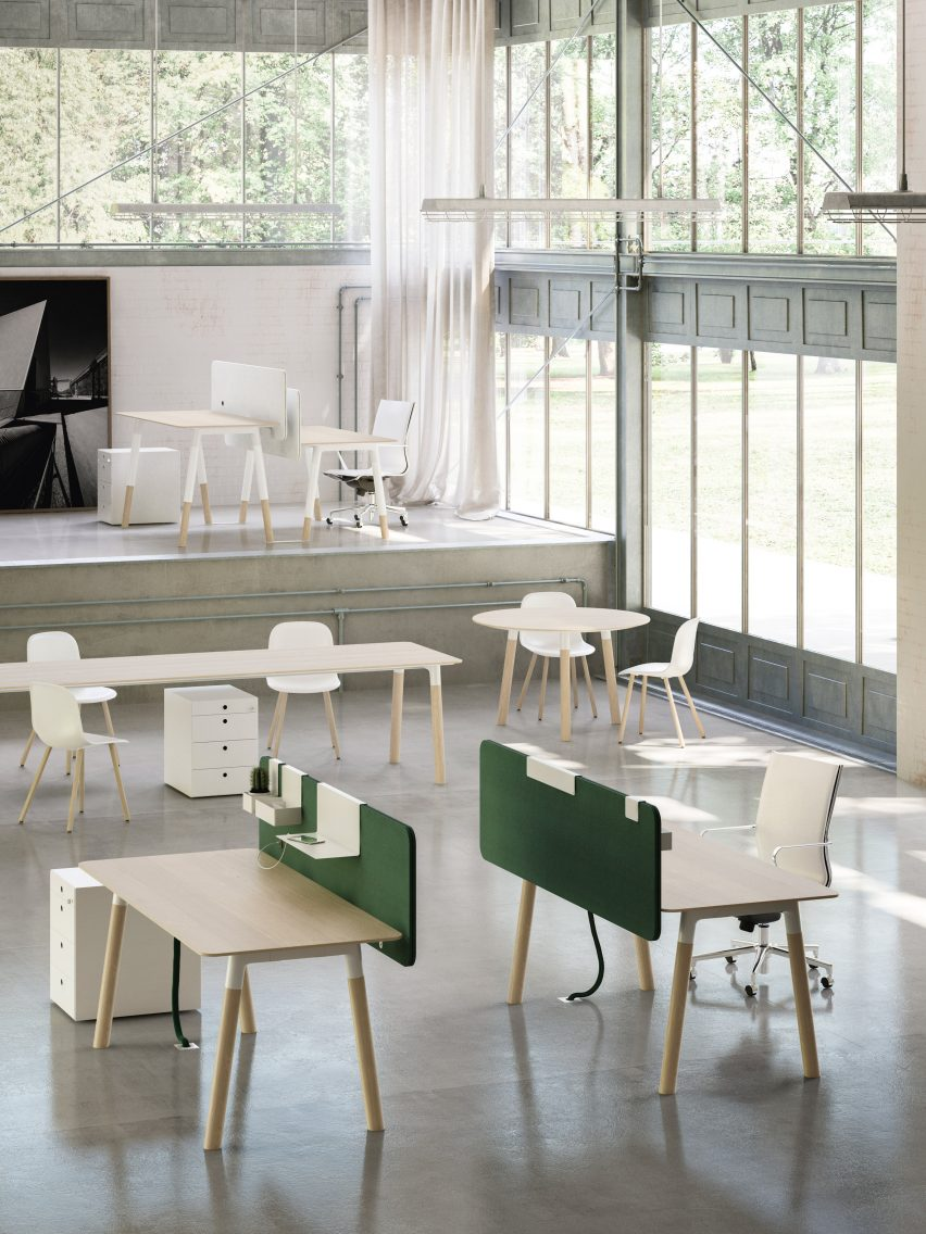 fantoni office furniture. the woods collection is latest range of office furniture from fantoni it follows on hub modular desk units launched last year r