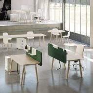 Fantoni launches solid wood tables designed to bring a home-like feel to the office