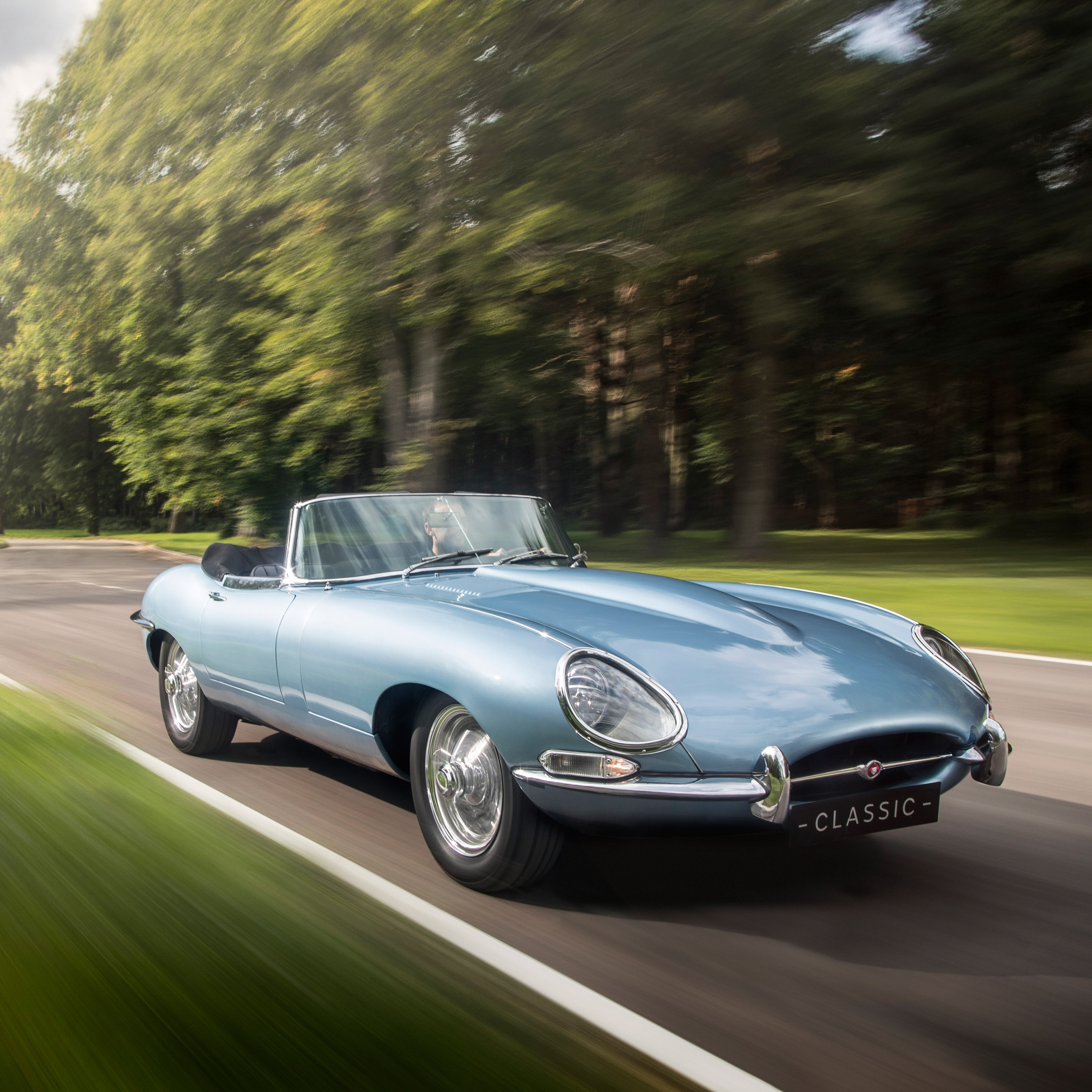 ... Jaguar Electrifies Its Classic E Type Car