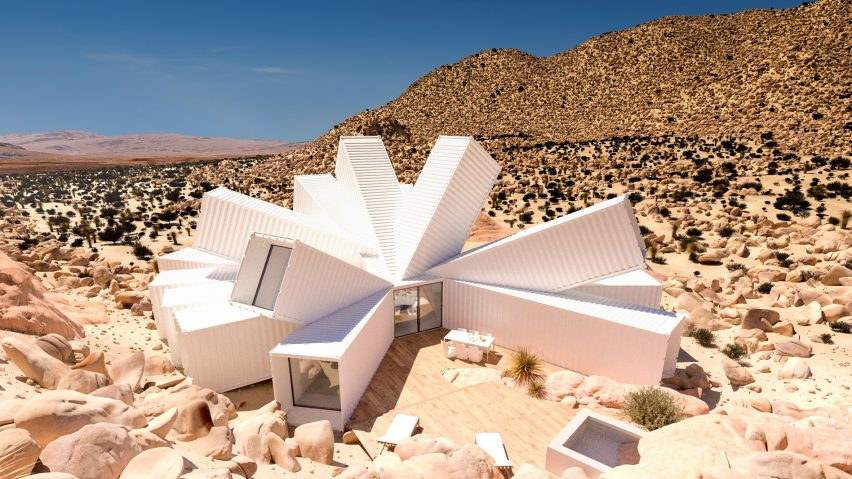 Unbuilt shipping container house for Joshua Tree on sale for $3.5 million