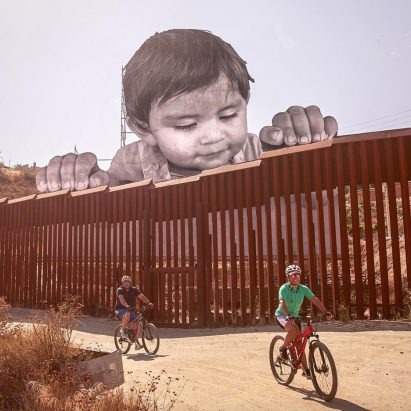 JR Dreamer installation at the US-Mexico border