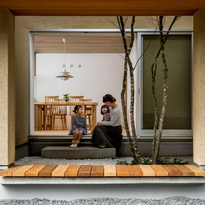 Hearth Architects Completes Family House In Shiga With Tree Planted Atrium