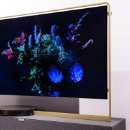 Loewe unveils ultra-thin statement TV with a slender golden frame