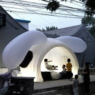 MAD creates inflatable pavilion shaped like a rabbit's head