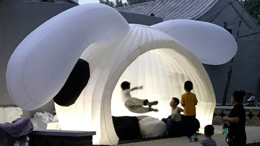 Beijing Design Week pavilion by MAD architects.