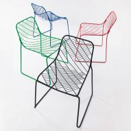 People's Industrial Design Office uses as little material as possible to create wireframe Mesh Chair