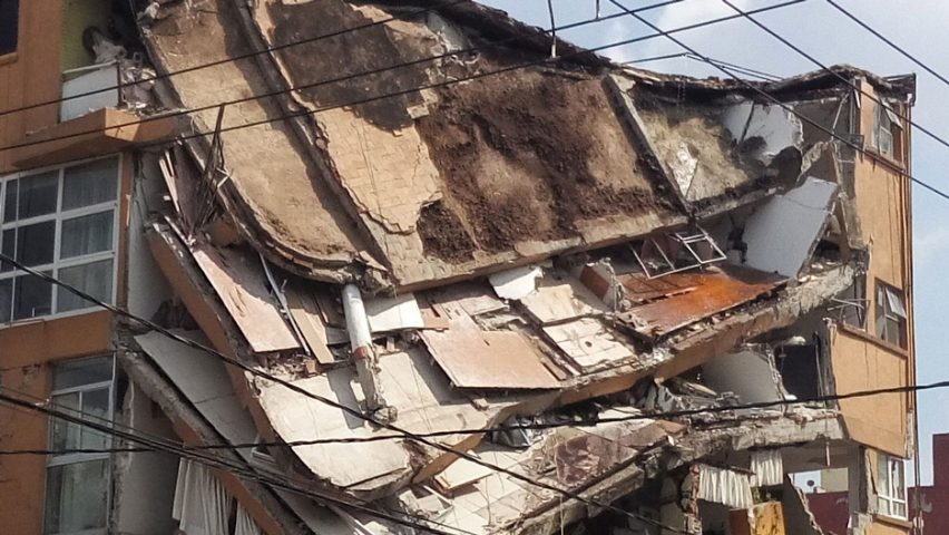 Earthquake damage in Mexico City