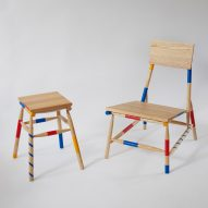 Rio Kobayashi bases colourful furniture on traditional game Mikado