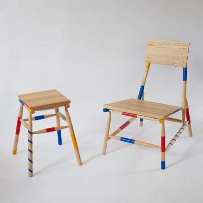 Rio Kobayashi bases colourful furniture on traditional game Mikado  London  designer. London Design Festival news and highlights   Dezeen