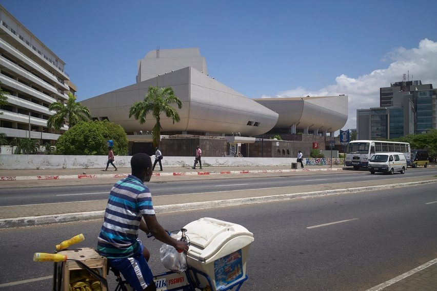 National Theatre of Ghana, Accra photographed by Julien Lanoo