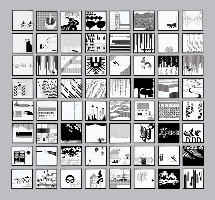 Otl Aicher's graphics poster project for Isny