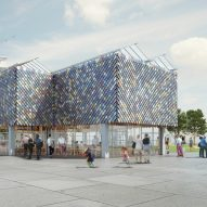 Dutch Design Week pavilion will feature recycled plastic shingles and borrowed materials