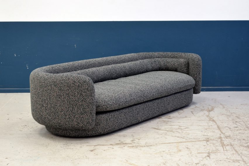 Philippe Malounin sofa for SCP at London Design Festival 2017.