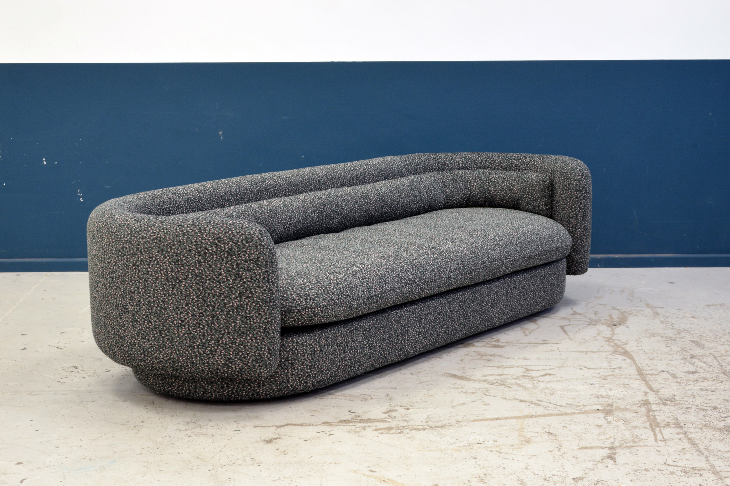 Philippe Malouin combines patterned fabric and rounded forms to create seating range for SCP