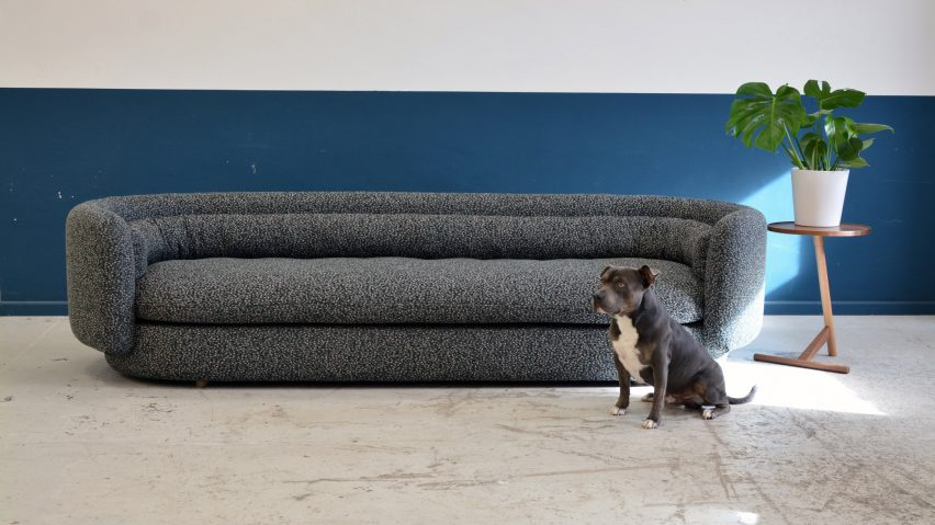 Philippe Malouin\'s seating range uses patterned fabric and ...