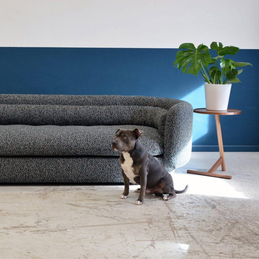 Philippe Malounin sofa for SCP at London Design Festival 2017.