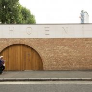 Office Sian adds brick and limestone building to London community garden