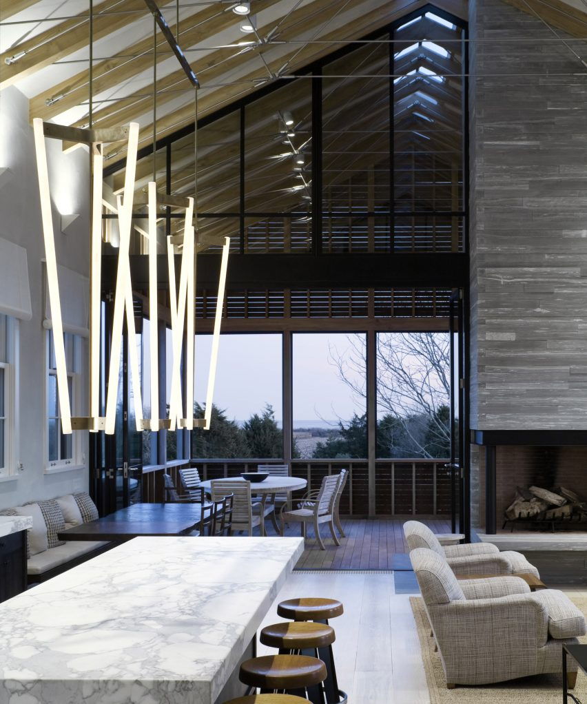 Dezeen Pinterest Roundups: Double Height Interiors. Louver House ...