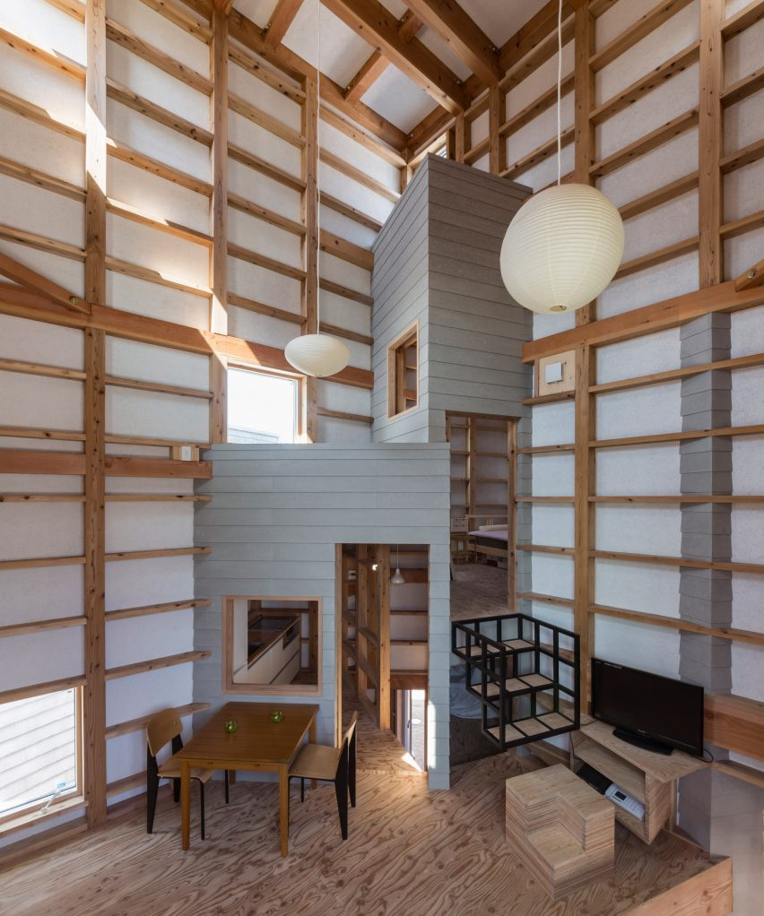 Dezeen Pinterest Roundups: Double Height Interiors. Fukushima House ...