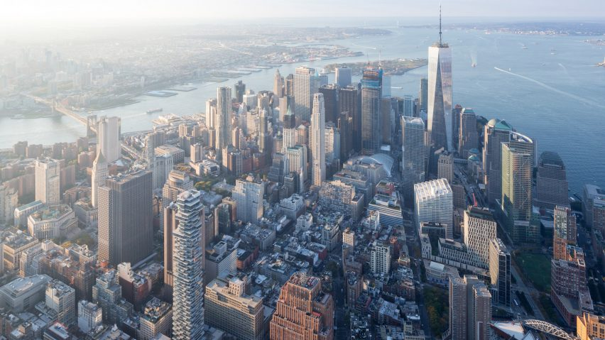 Lower Manhattan aerial photograph by Iwan Baan