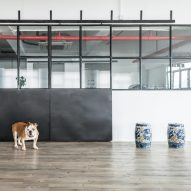 Lim + Lu transforms Hong Kong warehouse into home for two artists, four dogs and a cat