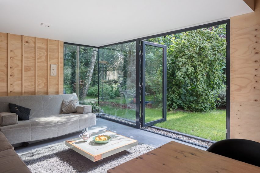 Ancient monastery wall slices through Utrecht house extension