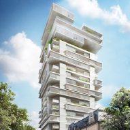 Ole Scheeren plans to radically transform Frankfurt office block into Jenga-like apartment tower