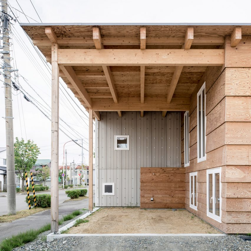 Jun igarashi architects uses loophole in japanese planning for Arctic house design
