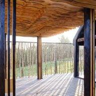 Sliced White pavilion classroom in Nikola-Lenivets