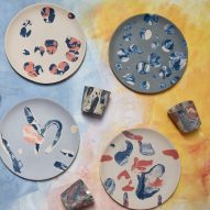 "Assemble ""squishes"" coloured clays to create one-of-a-kind Splatware products"