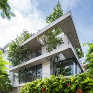 Stacked planters house by Vo Trong Nghia architects.
