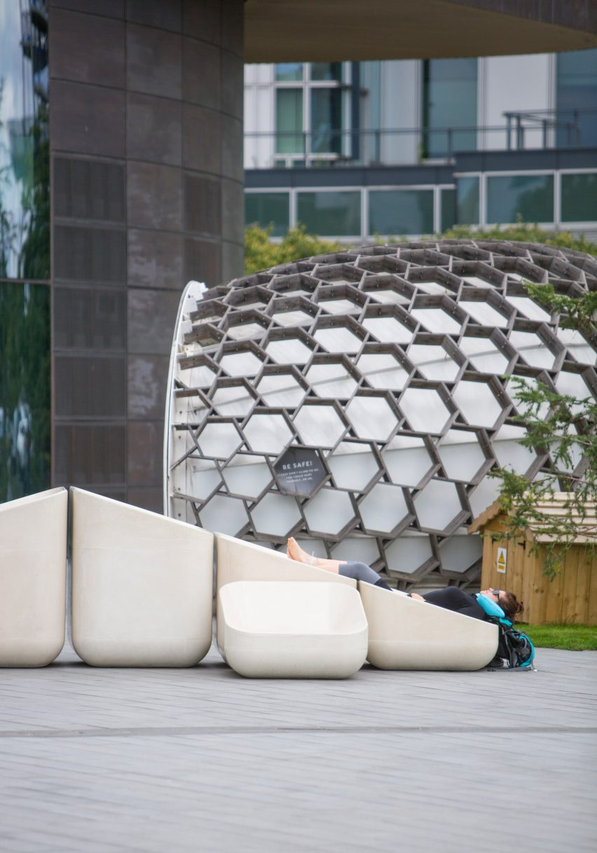 Design studio Raw Edges designs outdoor furniture for Greenwich Peninsula.